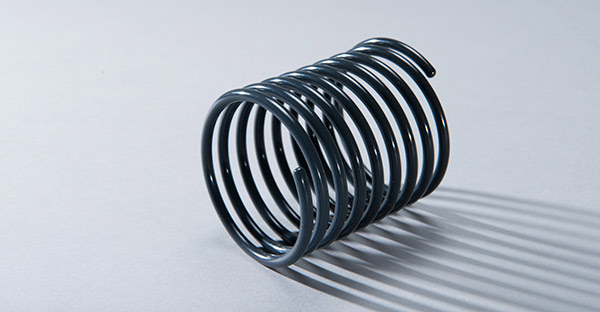 Compression Spring coated with E-CTFE, Halar as corrosion protection
