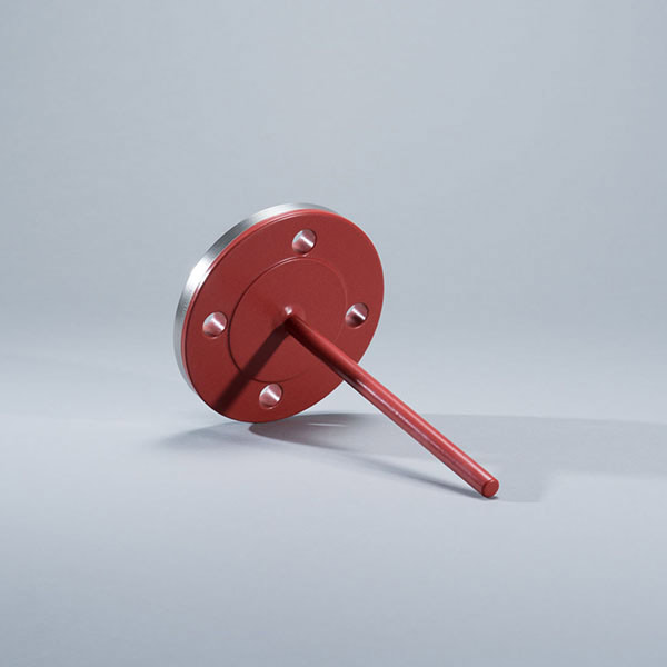 Level sensor with corrosion protection coating, coated with PFA coating, Ruby Red® as non-stick coating and corrosion protection